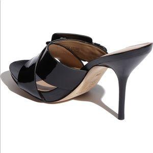 Donald J. Pliner Shoes - Donald J Pliner Elaine Black Leather Sandal Heel